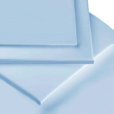 LIGHT BLUE COLOUR PERCALE MATTRESS FITTED VALANCE SHEET