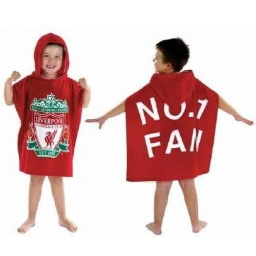 Liverpool FC Football Official Kids Hooded Poncho Towel