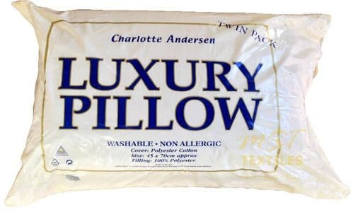 LUXURY SOFT PAIR OF PILLOWS NON ALLERGENIC