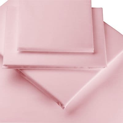 PINK COLOUR PERCALE MATTRESS FLAT SHEET
