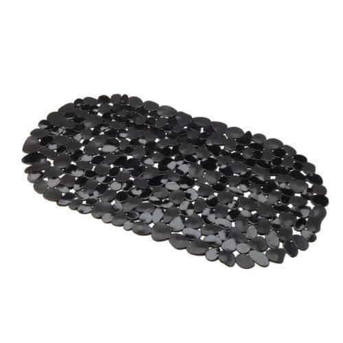 PLAIN BLACK COLOUR  PVC WATERPROOF BATHMAT