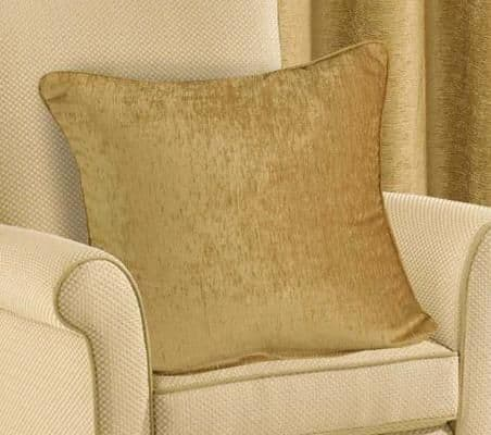 PLAIN CHENILLE FABRIC CUSHION BEIGE COLOUR