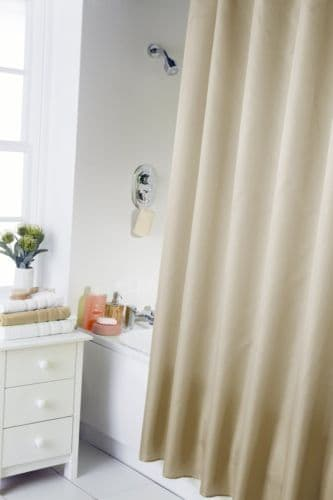 PLAIN CREAM COLOUR  WATERPROOF SHOWER CURTAIN