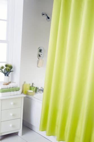 PLAIN LIME GREEN COLOUR  WATERPROOF SHOWER CURTAIN