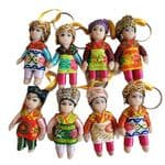 KR0001-0008 Keyrings with Chinese ethnic  costumes  £2.00