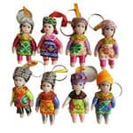 KR0009-0016 keyrings with Chinese ethnic costumes  £2.00 each Click