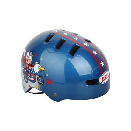 Bell Fraction Youth Multi-Sport Kid Knievel Helmet (Blue, Small)