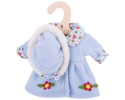 BigJigs Blue Hat and Coat (for 28cm Doll)