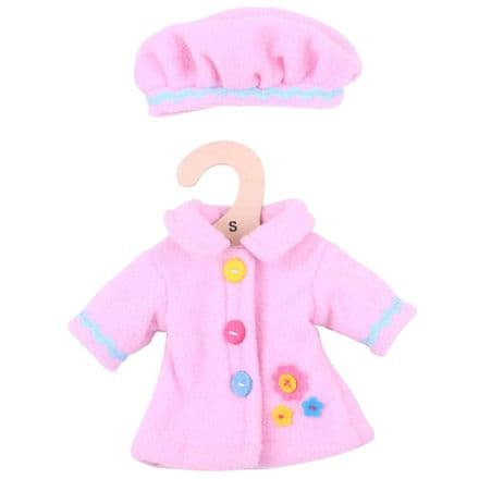 BigJigs Pink Hat and Coat (for 28cm Doll)