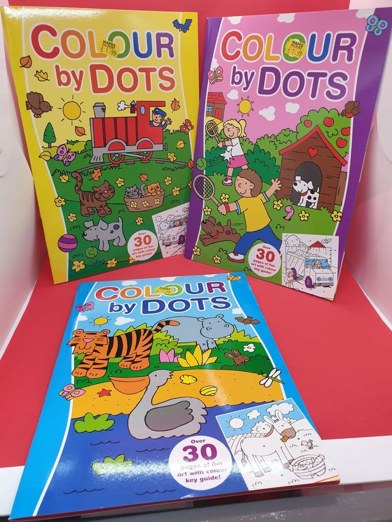 Colour by Dots 3 Assorted 1.99 Each