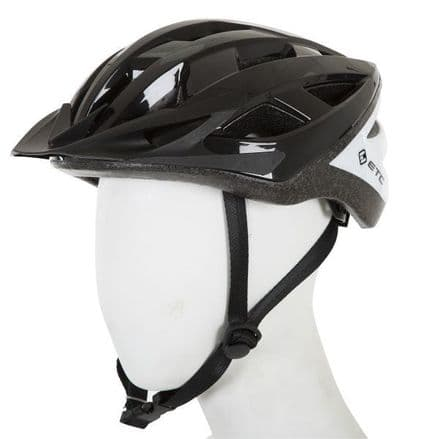 ETC L520 Adult Leisure Helmet Black/White 55cm-60cm