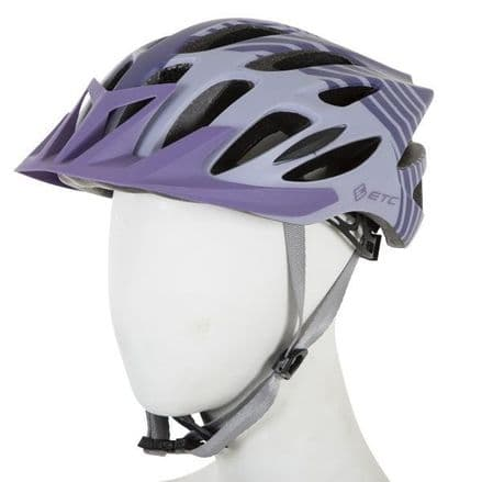 ETC M710 Adult MTB Helmet Purple/Grey 53cm-58cm