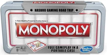 Hasbro Gaming Road Trip Series Monopoly Game Portable