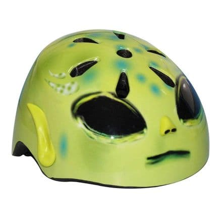 Hel-Muttz Moulded Alien Green Children Protector Helmet