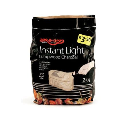 Iceland Bar-Be-Quick Instant Light Charcoal 2Kg