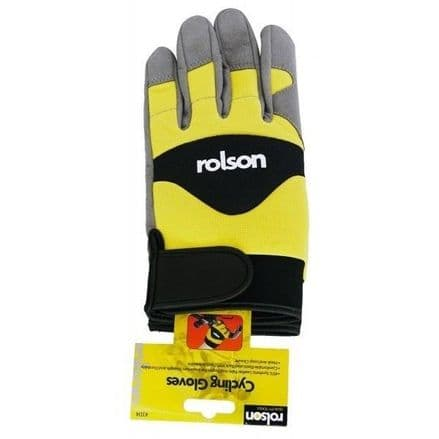 Rolson Full Finger Cycling Gloves XL Waterproof Yellow