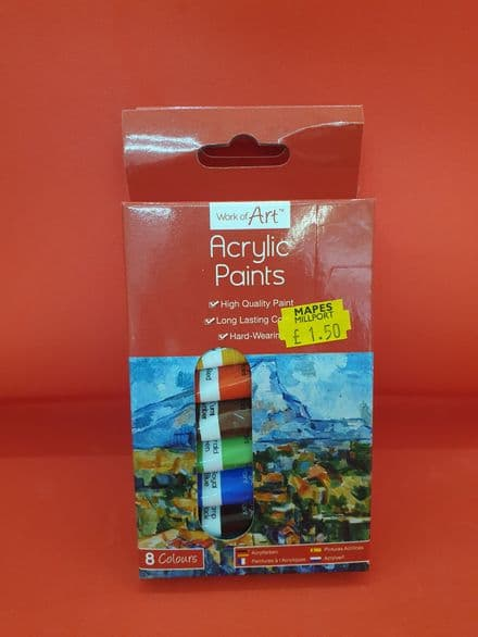 Small Boxed Acrylic Paints x 12