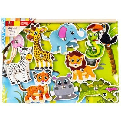 Wood works Magnetic Fishing Game Jungle