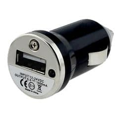 BLACK UNIVERSAL MINI CAR USB CHARGER FOR IPOD MP3 PHONE IPHONE GALAXY HTC TOMTOM