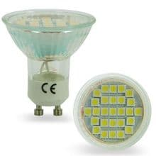 GU10 4W 27SMD 5050 LED BULB SPOT LAMP IN GLASS SHELL COVER