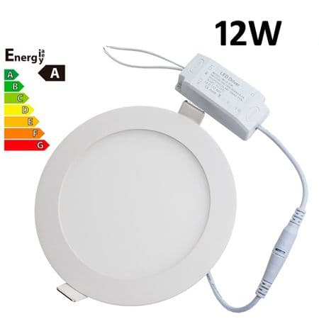 JSG Accessories® LED Round Recessed Ceiling Panel down Light Ultra-slim Lamp Ultra-Thin 12W