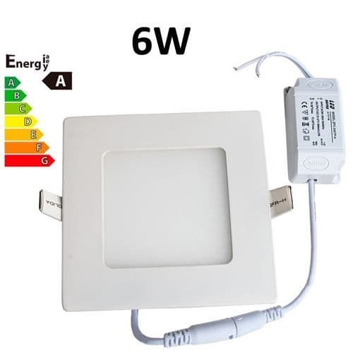 JSG Accessories® LED Square Recessed Ceiling Panel down Light Ultra-slim Lamp Ultra-Thin 6W