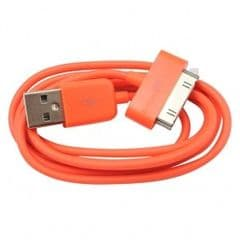 ORANGE CHARGE DATA SYNC CABLE FOR IPOD, IPHONE, IPAD