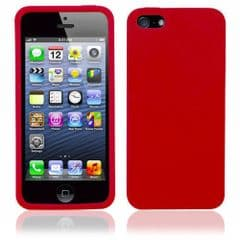 SILICONE CASE FOR IPHONE 5 /5s RED