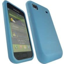 SILICONE CASE FOR SAMSUNG GALAXY S i9000 BABY BLUE