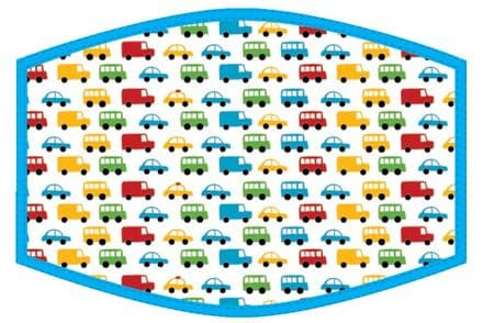 Cars and Trucks Kids Face Mask