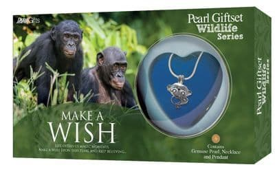Chimpanzee Pearl Giftset with Wildlife Pendant