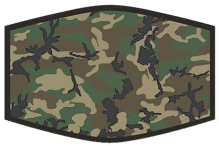 Green Camouflage Adult Face Mask