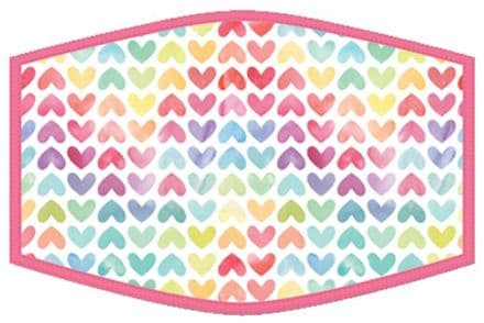 Hearts Adult Face Mask