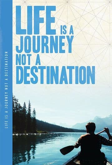 Life Is A Journey XL Notebook
