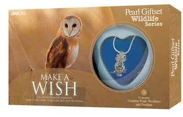 Owl Pearl Giftset with Wildlife Pendant