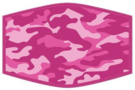 Pink Camouflage Adult Face Mask