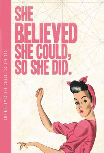 She Believed She Could XL Notebook