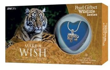 Tiger Pearl Giftset with Wildlife Pendant