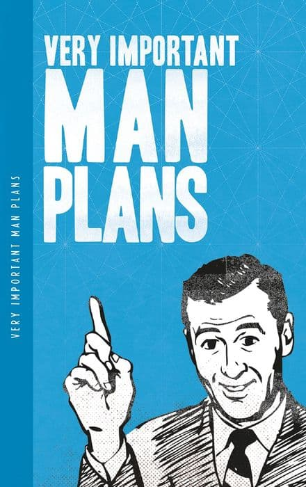 Very Important Man Plans Notelet notebook