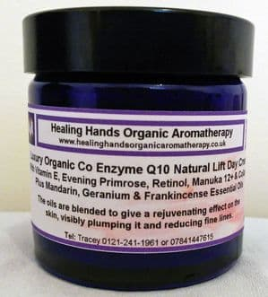 Organic Anti-wrinkle Q10 Day Cream + Retinol, Collagen & Manuka 12+ Honey - 60ml
