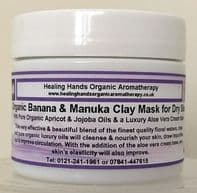 Organic Banana and Manuka 12+ Honey Cream Clay Face Mask for Dry Skin - 65g
