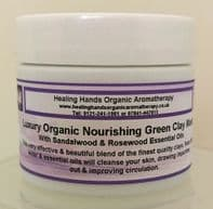 Organic Hand Blended Nourishing Green Clay Facial Mask with Manuka65g