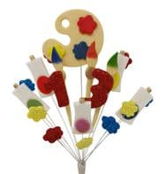 Artist 13th birthday cake topper decoration - colours as shown - free postage