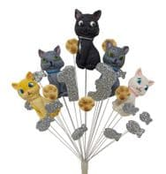 Cats 13th birthday cake topper decoration - colours as shown - free postage