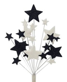 Christening cake topper decoration in black and white - free postage