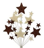 Christening cake topper decoration in choc and cream - free postage