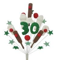 Cricket 30th birthday cake topper decoration - free postage