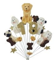 Dogs 18th birthday cake topper decoration - free postage