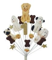 Dogs 1st birthday cake topper decoration - free postage