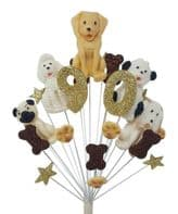 Dogs 90th birthday cake topper decoration - free postage